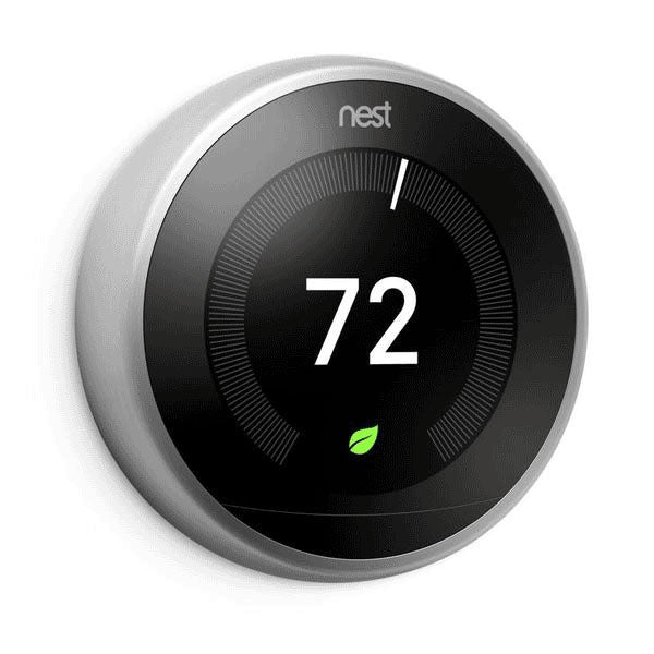 3rd gen Nest Learning Thermostat in Stainless Steel