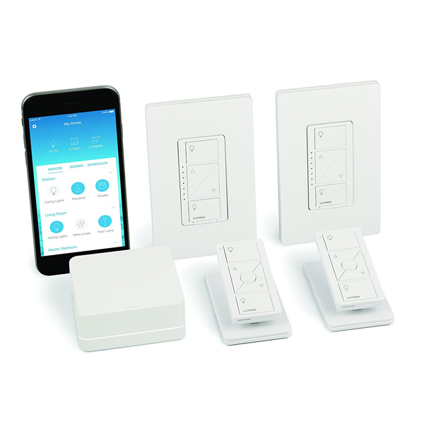 Lutron Caseta Wireless Smart Lighting Dimmer Switch (2 count) Starter Kit image 1967236448289