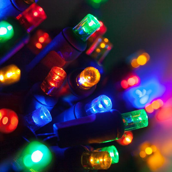 "70-count 5mm Holiday Lights, 4"" Spacing"