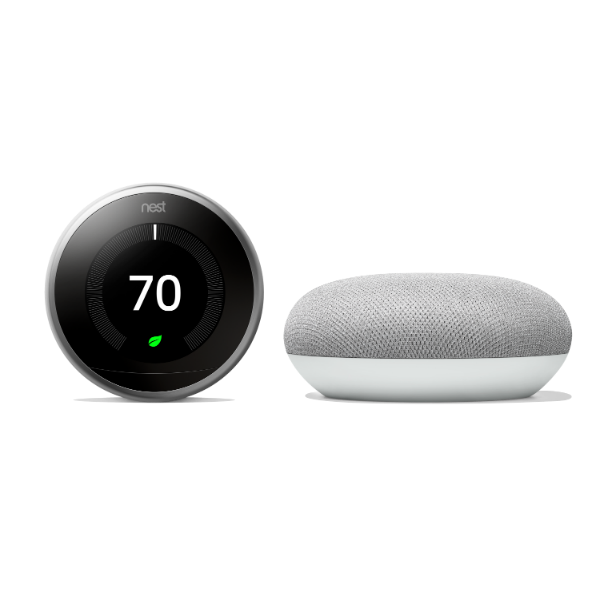 Nest Learning Thermostat with Google Home Mini