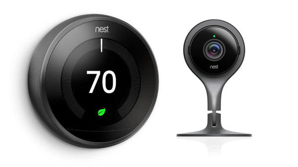 3rd Gen Nest Learning Thermostat - Black + Indoor Security Camera image 3834711506967