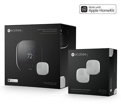 ecobee3 Homekit-Enabled + 3 Remote Sensors