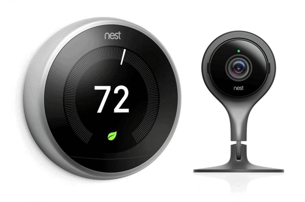 3rd Gen Nest Learning Thermostat - Stainless Steel + Indoor Security Camera image 3834513457175