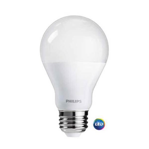 A19 Philips 9W Dimmable Daylight Indoor (12 Pack)