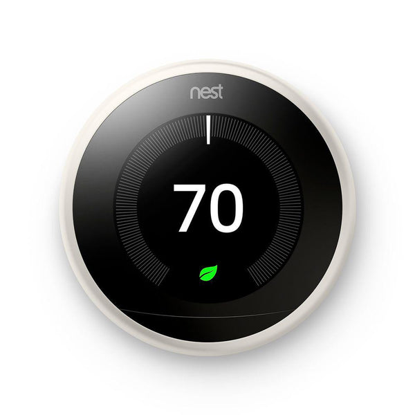 3rd Gen Nest Learning Thermostat - White image 23240952259