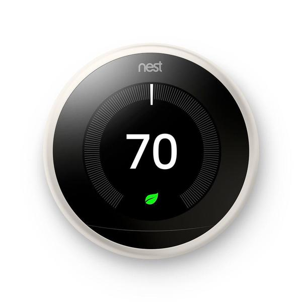 3rd Gen Nest Learning Thermostat - White + Indoor Security Camera image 3834721861655