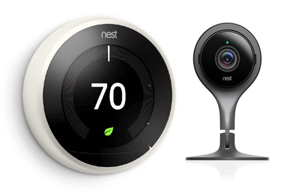 3rd Gen Nest Learning Thermostat - White + Indoor Security Camera image 3834727432215