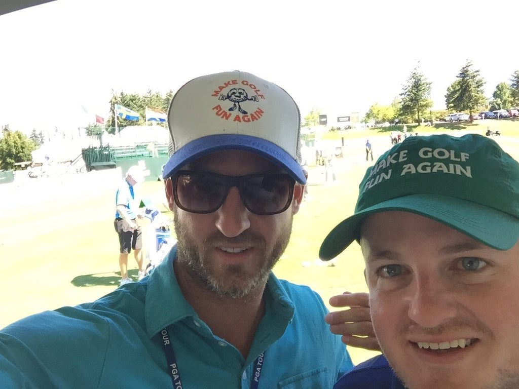 Cochran brothers sporting the MGFA lids at the Boeing Classic