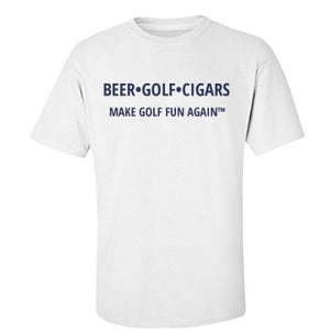 T-shirt - BEER•GOLF•CIGAR