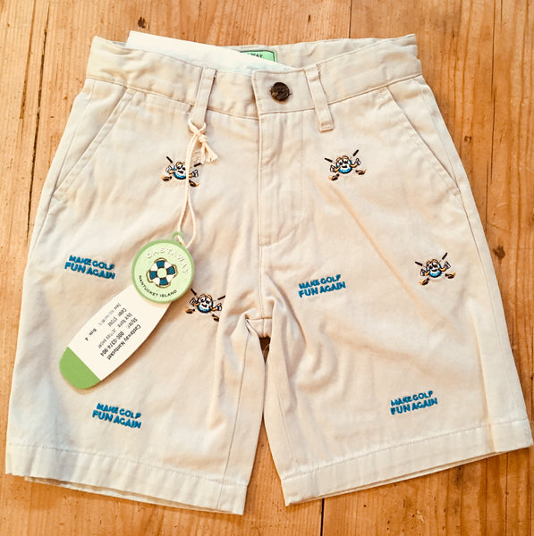Castaway Clothing Custom Embroidered MAKE GOLF FUN AGAIN® Boys Shorts