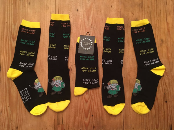 MAKE GOLF FUN AGAIN custom Circle Socks