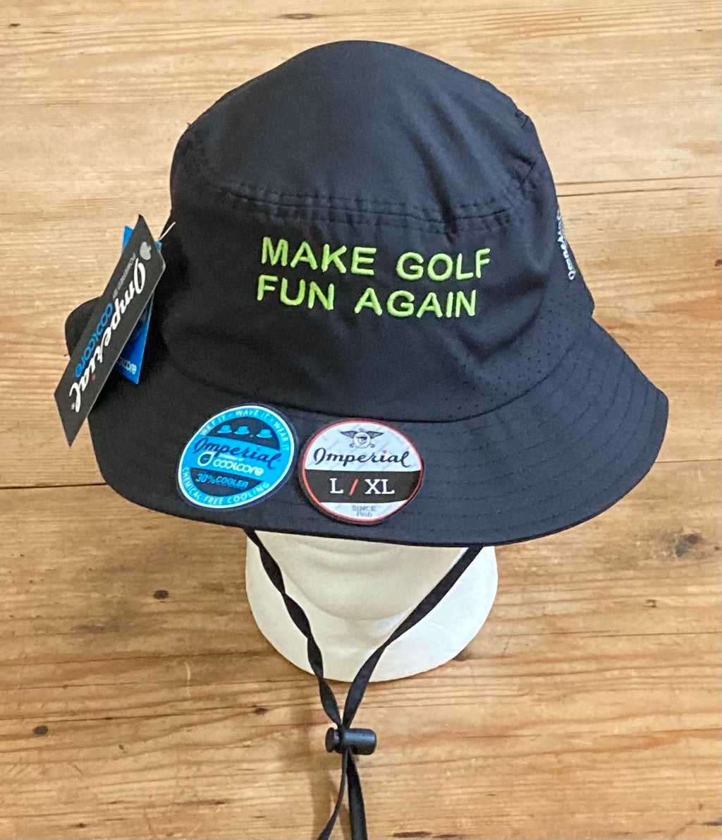 MAKE GOLF FUN AGAIN  Bucket Hat w/ Strap | Black
