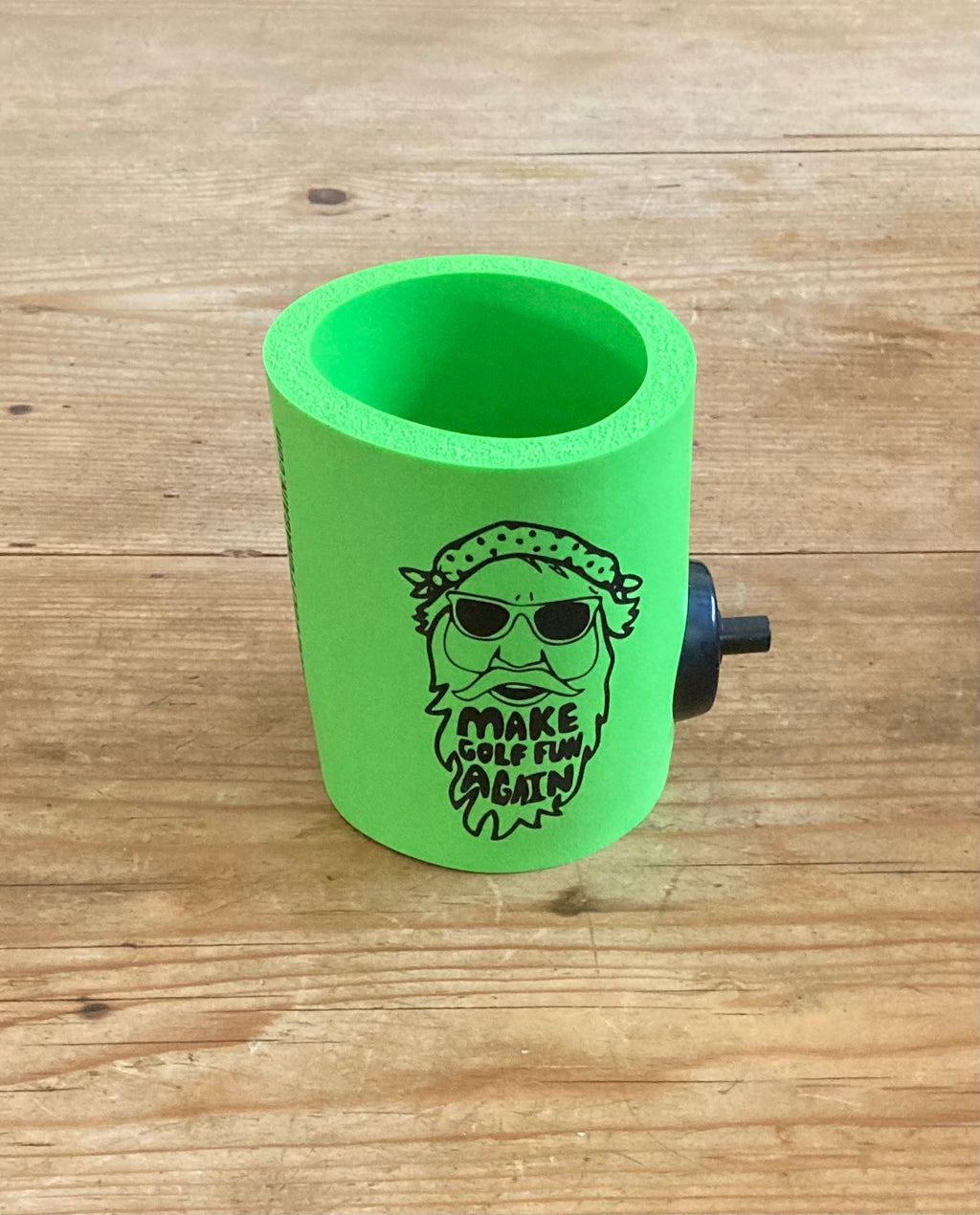 Big D Collection  - Lime FUNtastic  foam can cooler w/ Party Starter Shotgun button