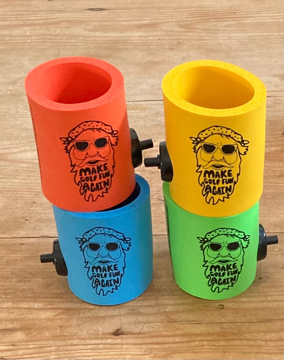 Big D Collection - FUNtastic  foam can coolers w/ Party Starter Shotgun button