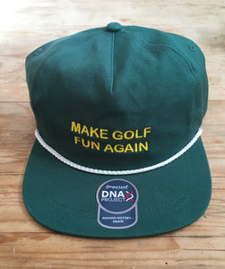 Augusta 2020 Rope Hat - Forrest Green / White Rope