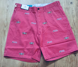 MAKE GOLF FUN AGAIN™ Custom Embroidered Mens Shorts - Hurricane Red