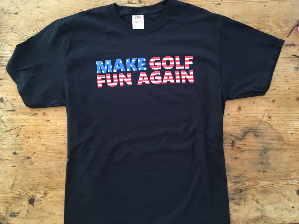 T-shirt - MAKE GOLF FUN AGAIN USA FLAG