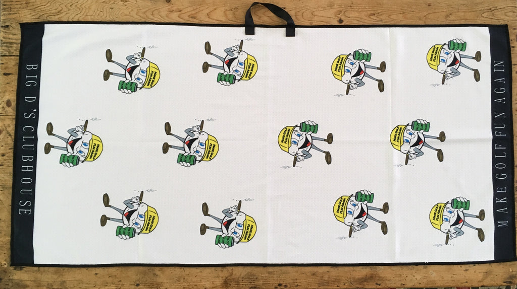 Custom Logo Uther Supply Tour Towel - MAKE GOLF FUN AGAIN®