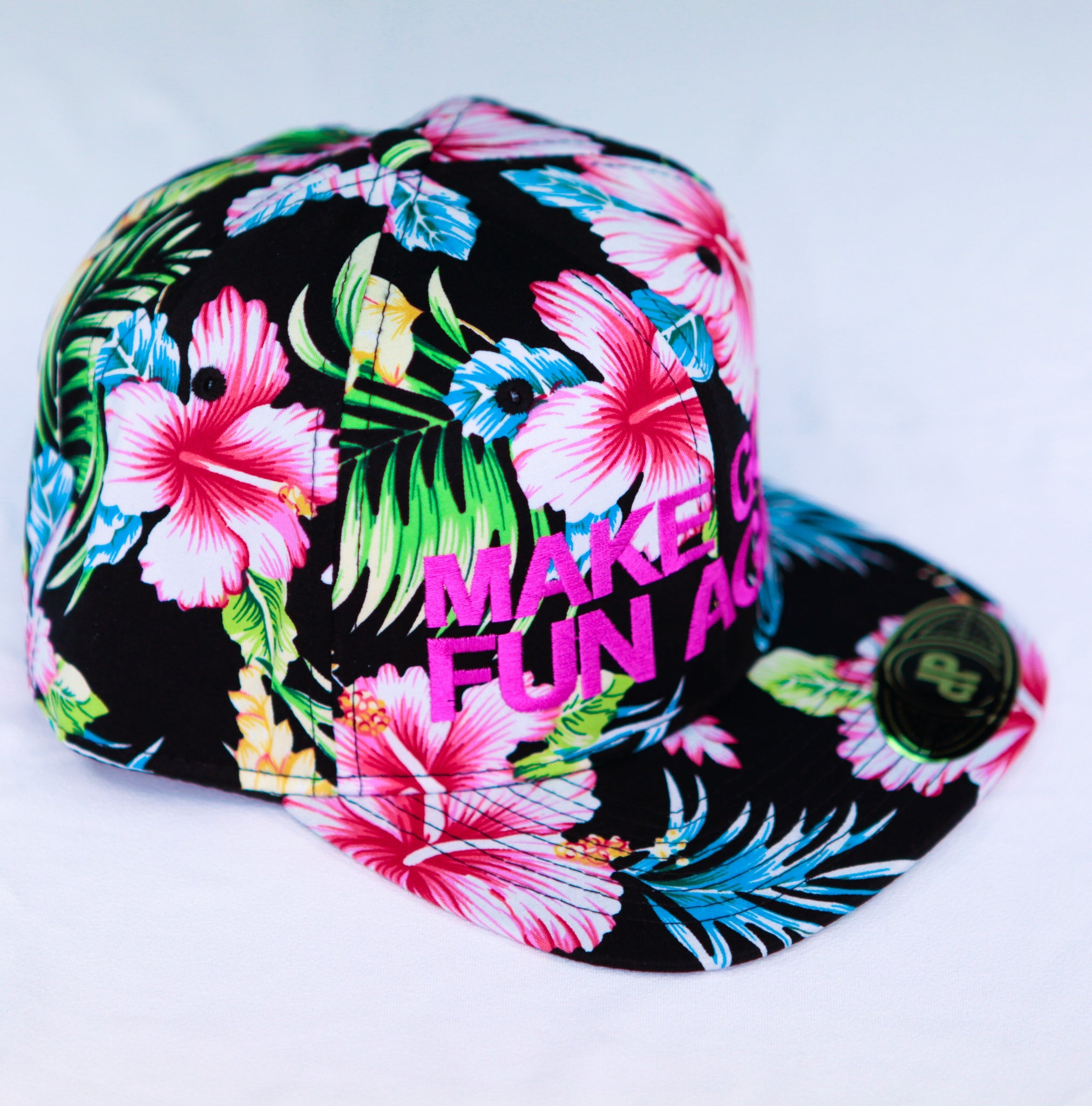 DPS - Full Black Floral / Pink