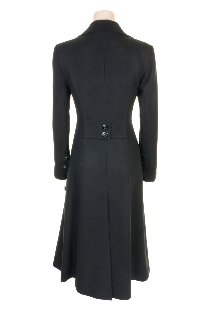 Busy Clothing Womens Black Long Wool Blend Coat - Busy ...