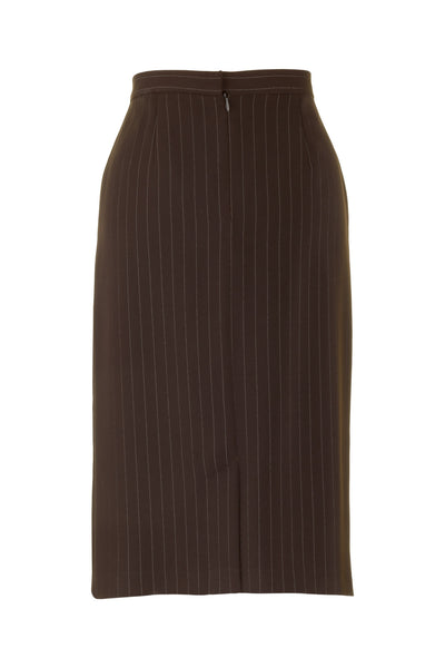 busy clothing womens brown stripe pencil skirt busy