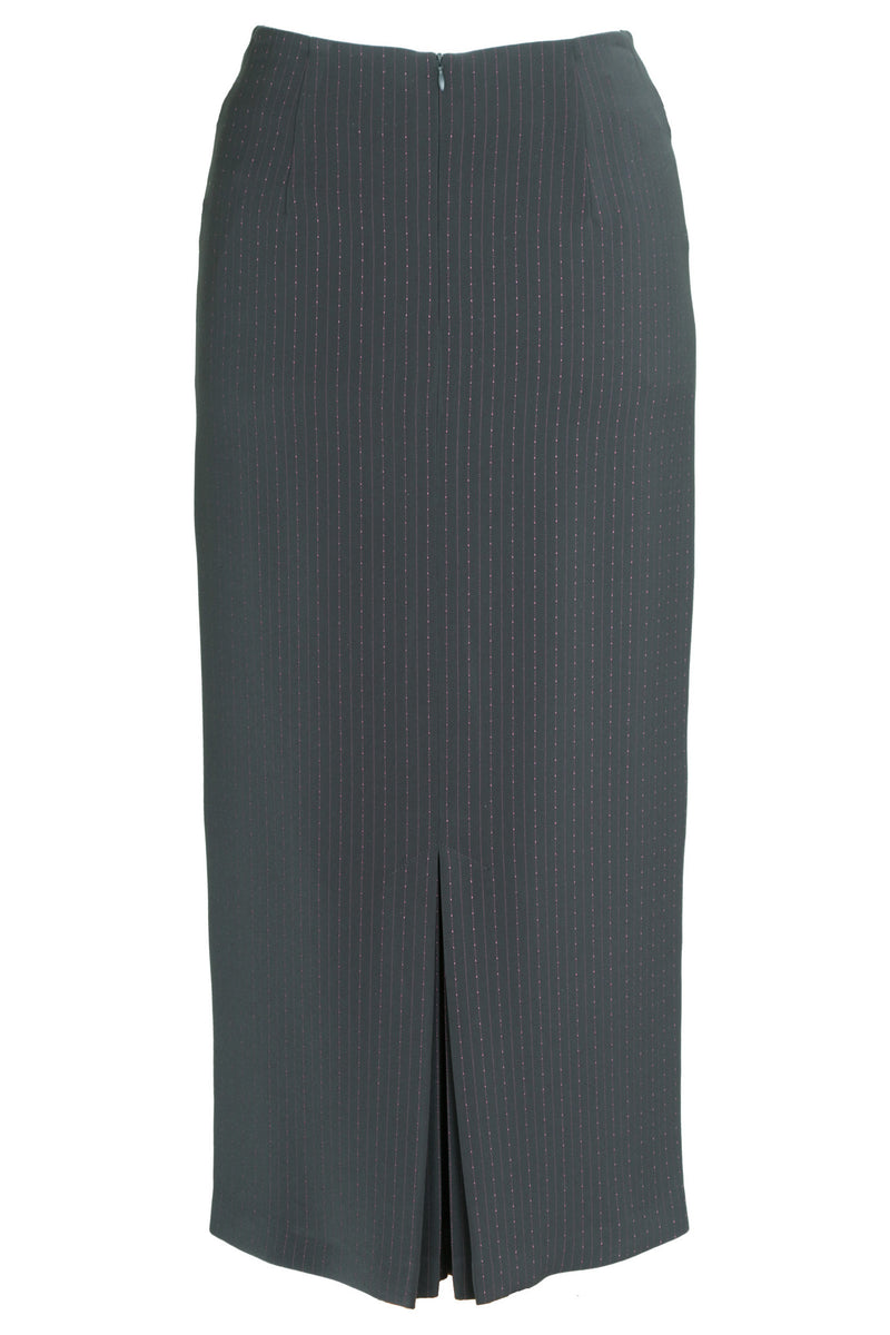 Busy Clothing Womens Grey Pinstripe Long Skirt Busy