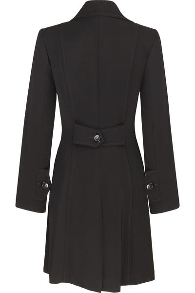 Busy Clothing Womens Black 3 4 Trench Coat Mac Busy
