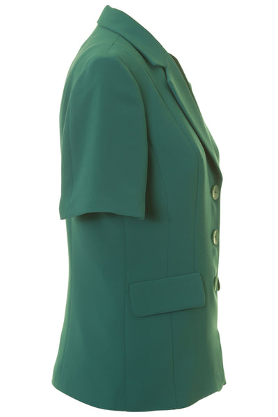 Busy Clothing Womens Jade Green Short Sleeve Jacket Busy