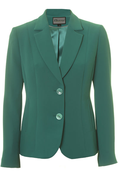 Busy Clothing Womens Jade Green Suit Jacket Busy