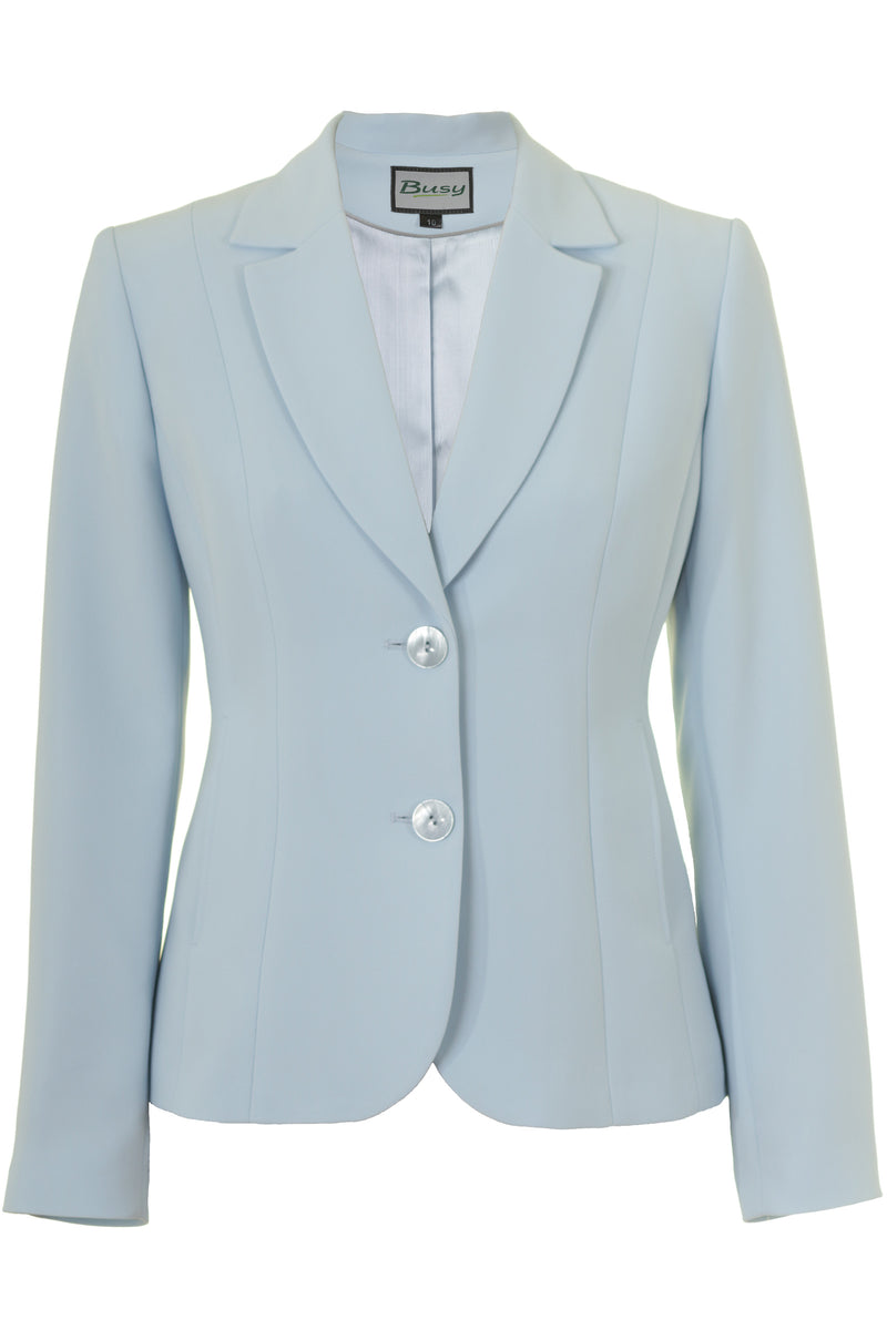 Busy Clothing Womens Light Blue Suit Jacket Busy