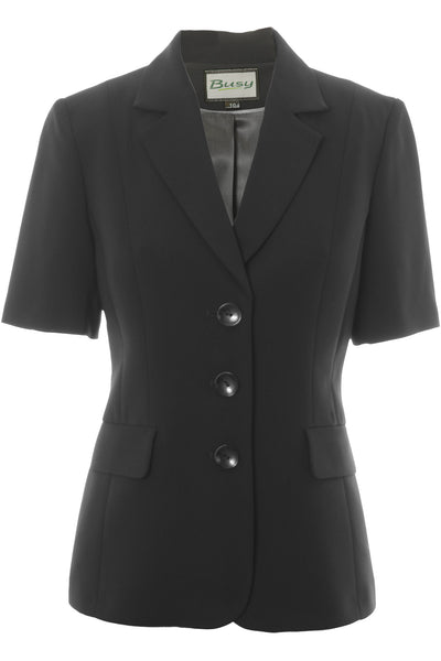Busy Clothing Womens Black Short Sleeve Jacket Busy