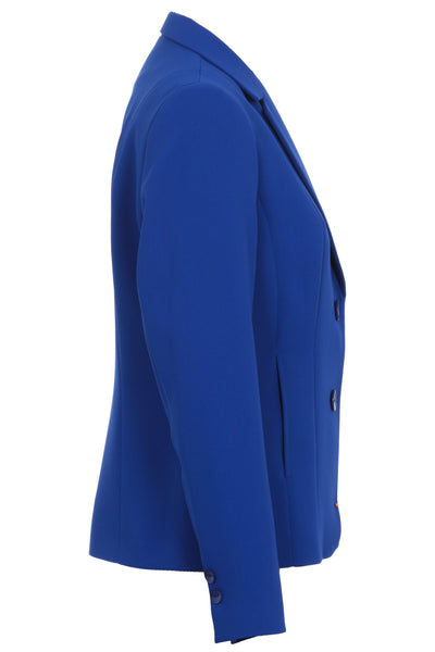 Busy Royal Blue Ladies Suit Jacket