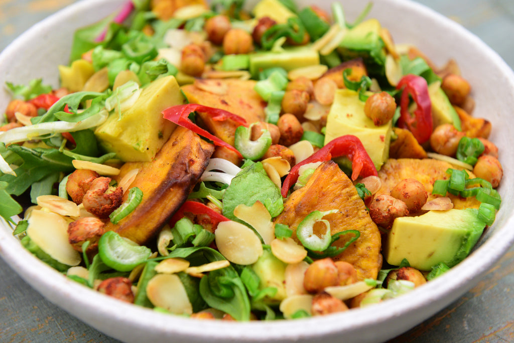 Roasted Sweet Potato & Chickpeas