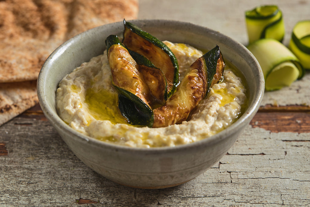 Courgette moutabbal - Roasted courgette dip