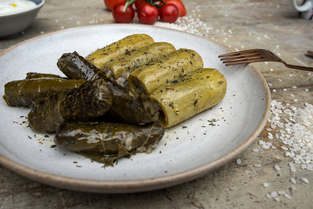 Kousa w warak enab - Stuffed mini courgettes & vine leaves