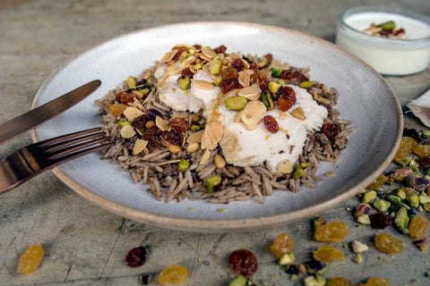 Rizz aa djeij - Spiced rice with chicken & nuts