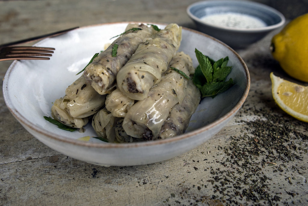 Mehchi malfouf - Stuffed cabbage leaves