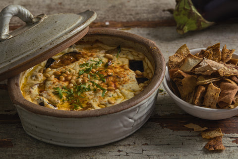 Fattet batenjen - Roasted aubergine in tahini yogurt