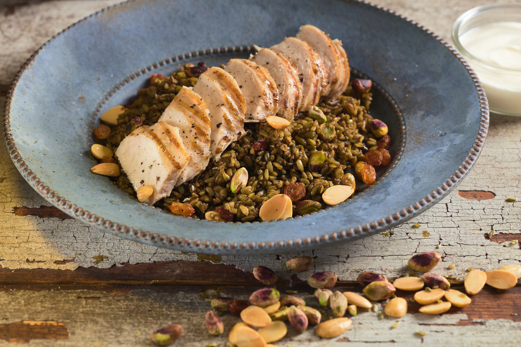 Freekeh w djeij - Freekeh pilaf with chicken