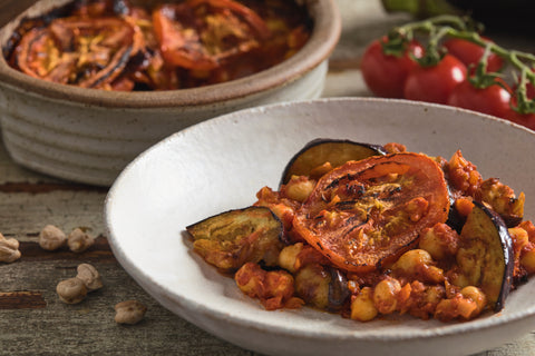 Moussaka'a (side) - Aubergine & chickpeas stew