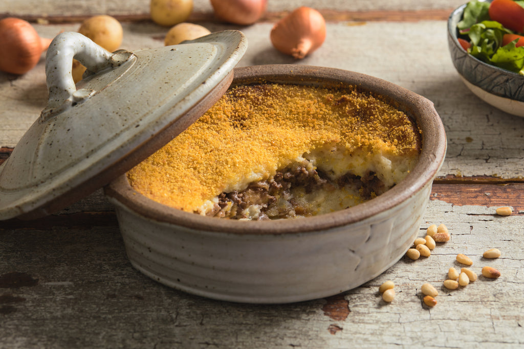 Potato Soufflé - Lebanese shepherd's pie