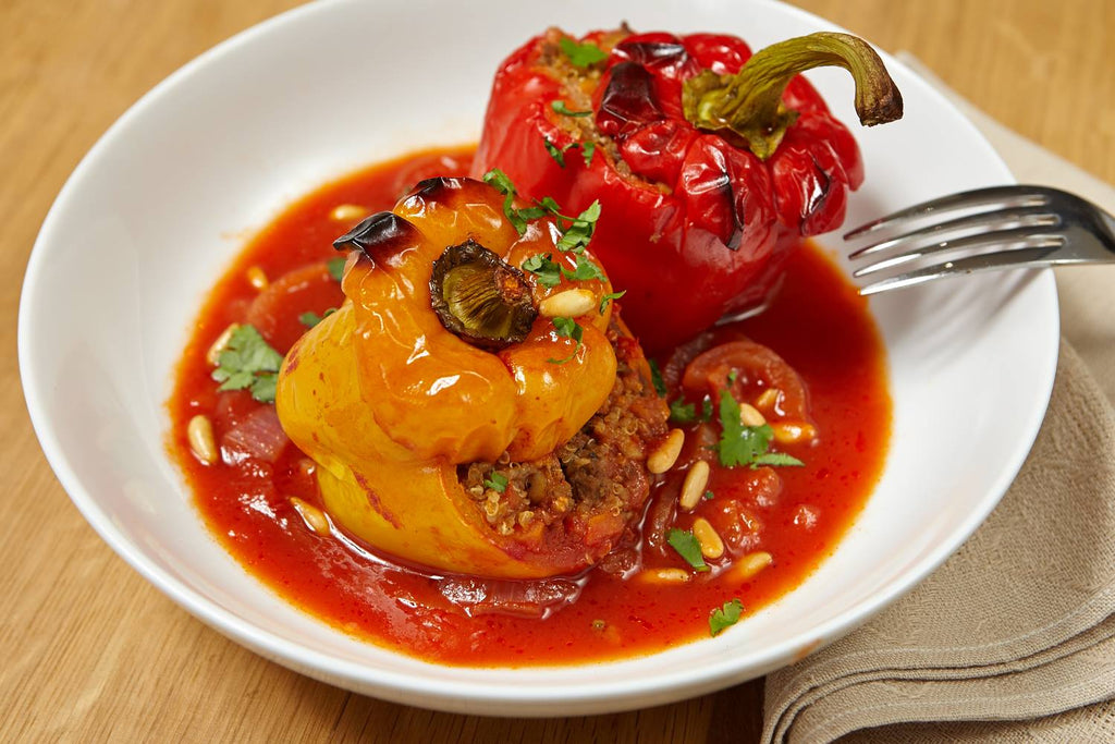 Vegan stuffed vegetables