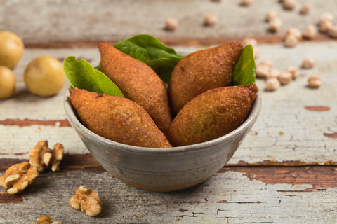 Potato kibbeh - Potato & bulgur croquettes