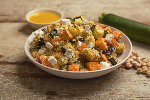 Roasted vegetables & bulgur salad