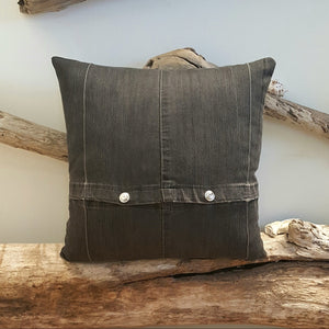 Denim Snap Pillow-Linens-in2ition mercantile