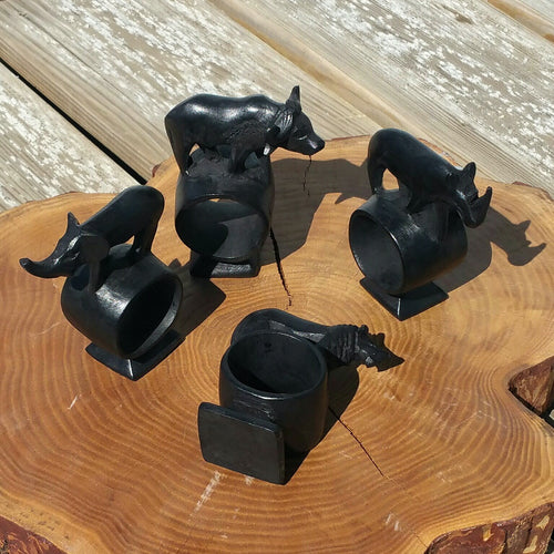 Animals Wooden Napkin Rings-Wares-in2ition mercantile
