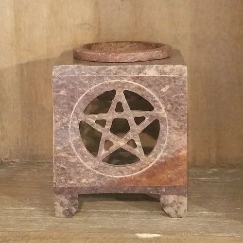 Carved Soapstone Aroma Lamp-Aroma-in2ition mercantile