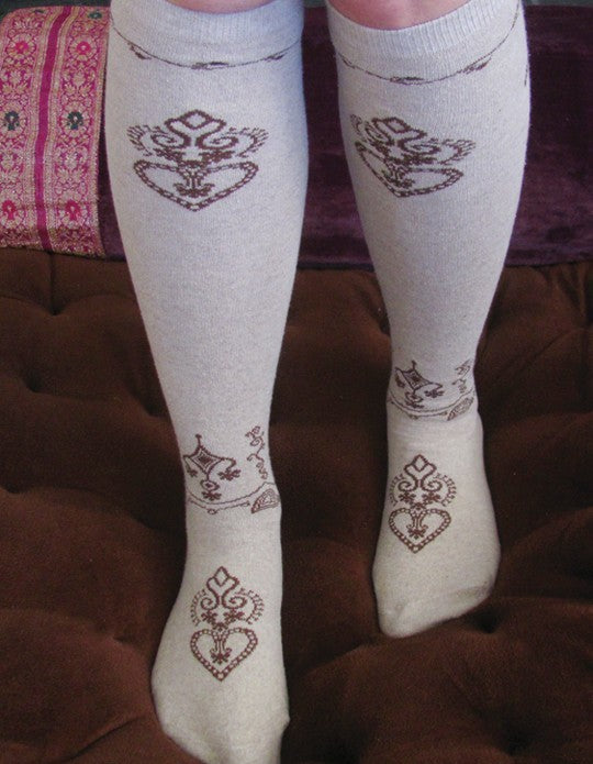 Henna Knee High Socks
