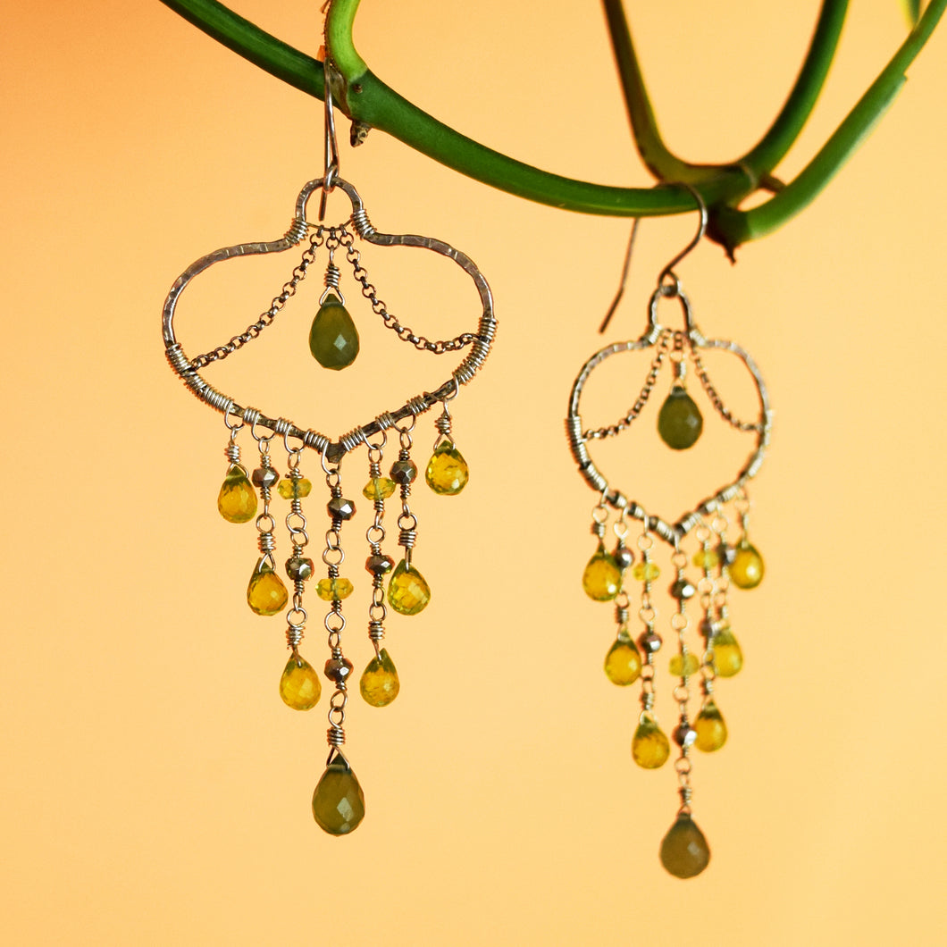 Peridot Chandelier Earrings-Jewelry-in2ition mercantile
