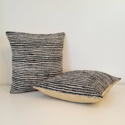 Silk Stripe Pillow-Linens-in2ition mercantile